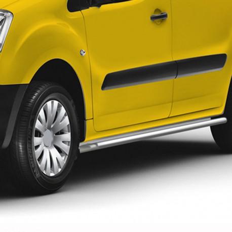 RVS sidebars Fiat Fiorino gepolijst