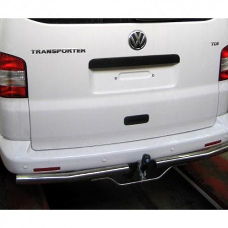 matte RVS Backbar Volkswagen T5 met trekhaak